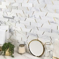 Can we talk about this cool MATRIX TRAPEZOID MARBLE tile that just landed in my email box from 🖤 Super cool and need it in my life 💫Maybe the gets it or the kitchen backsplash when that gets redone ? Calacatta Tile, Marble Tiles, Room Tiles, Wall Tiles, Bar Tile, Half Bathroom Remodel, Kitchen Remodel, Manhattan Hotels, Willow House