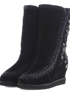 MOU   Mou Mou Eskimo Embroidered Boots #Shoes #Boots #MOU