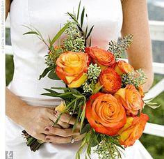 Bouquet Bridal: Orange Rose Bouquets