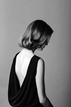 Elegant in simple black.