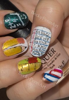 Back to School Nails http://www.makeupbee.com/look.php?look_id=59087
