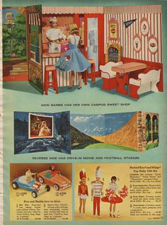 The folding Barbie Campus we had when I was a kid! We had that orange convertible, too!