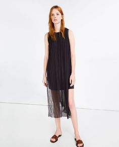 Image 1 of PLEATED DRESS WITH SLITS from Zara