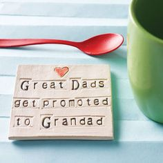Grandparent Ceramic Coaster - best gifts for dads #fathersday