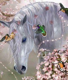 Unicorn And Fairies, Unicorn Fantasy, Unicorn Horse, Unicorns And Mermaids, Unicorn Art, Fantasy Art, Unicorn Painting, Unicorn Drawing, Beautiful Unicorn
