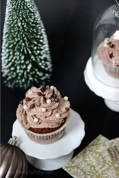 Eierlikör Schokoladen Cupcakes Winter Weihnachten Christmas Chocolat Muffin