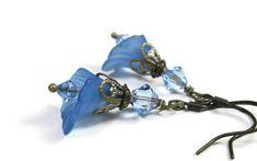 Blue Flower Earrings Floral Jewelry Pantone by jewelrybyNaLa