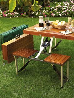 Picnic At Ascot Portable Picnic Table Set for Four