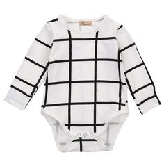 Checkered Long Sleeve Onesie
