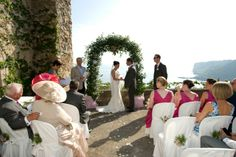 Samantha & Gordon's wedding in Italy at a Castle overlooking the sea and mountains
