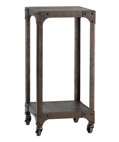 HomeBelle Iron Rolling Accent Table by HomeBelle #zulily #zulilyfinds