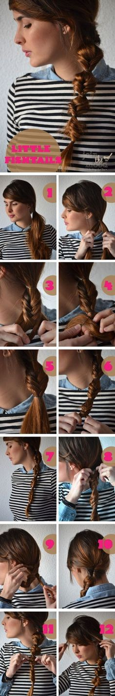 DIY Little Fishtails Hairstyle #DIY#LittleFishtails#Hairstyle#