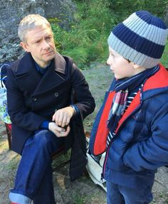 Martin freeman with young fan 2017