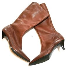 Brown Ann Taylor Loft Boots Women's brown leather boots. Great low heel boot from Ann Taylor Loft. Gently worn in good condition. Little signs of wear on the sides. Ann Taylor Shoes Heeled Boots