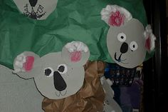 Koala and possum unit (Australia) Preschool Jungle, Jungle Crafts, Zoo Crafts, Preschool Projects, Animal Crafts, Preschool Crafts, Art Projects, Preschool Letters, Jungle Theme Classroom