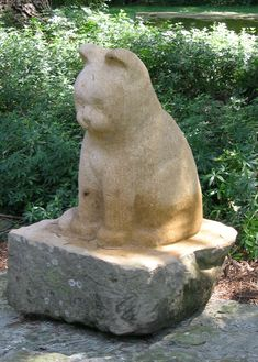 Ed Januska Hand Carved, Stone Cat Kitties On Board Insisted I Repin This