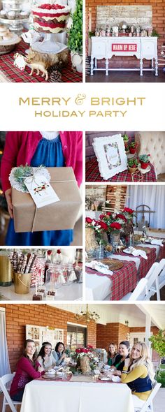 Merry & Bright Holiday Party // Free printables, recipes, DIY projects and more! Everything you need to throw a hip and happening holiday party this year!