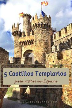 Castillos Templarios en España: 5 castillos templarios de leyenda. Slow Travel, Time Travel, Places To Travel, Places To Visit, Chateau Medieval, Places In Spain, Spain Travel, Wanderlust Travel, Tower Bridge