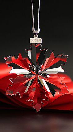 Swarovski Crystal Annual Edition Snowflake Ornament, 2014