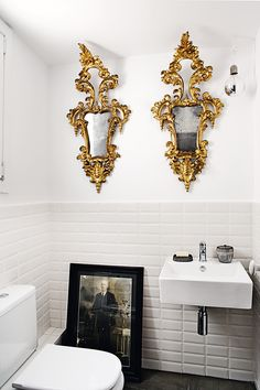 Cornucopia mirrors and vintage photo