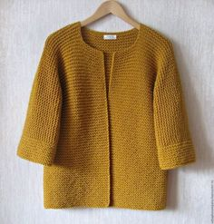 Koop of bestel kimono vest online . Knit Cardigan Pattern, Knitted Baby Cardigan, Crochet Jacket, Knit Jacket, Knit Crochet, Kimono Cardigan, Baby Knitting Patterns, Knitting Stitches, Knitting Designs