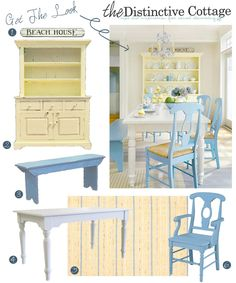I like these colors. Looks like the country beach kitchen I want to make.