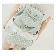 cute pastel polka dots bow bag