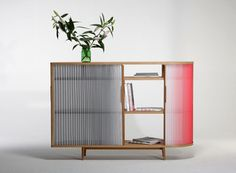 Ombre-Inspired Plissee Sideboard by Anne Boenisch
