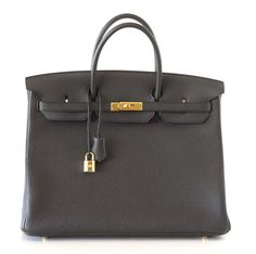 HERMES Birkin 40 Bag PLOMB togo Gold hdw NEW off black #HERMES #TotesShoppers #available #mightykismet #ebay