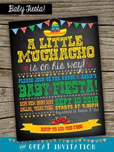 Fiesta Baby Shower Invite/ Fiesta Chalkboard Invitation / Fiesta Baby Shower  / Mexican Fiesta Baby Shower/ Fiesta Digital Invite/ Fiesta