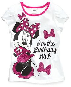 Disney Kids Shirt, Little Girls Minnie Mouse Tee - Kids - Macy's Girls Tees, Shirts For Girls, Kids Shirts, Mickey Mouse T Shirt, Mickey Y Minnie, Baby Boy Outfits, Outfits For Teens, Jojo Siwa Outfits, Girls Sportswear