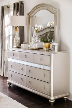 Super glam dresser with mirror from our Serena collection only at Value City Furniture!