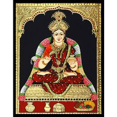 Tanjore Painting - Goddess Annapoorani