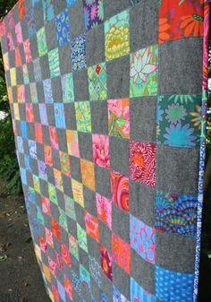 Batik Quilts, Patchwork Quilting, Scrappy Quilts, Easy Quilts, Crazy Quilting, Modern Quilting, Quilting Fabric, Quilt Modern, Crazy Patchwork