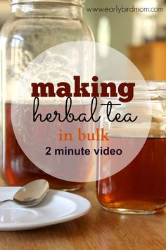 With this easy method (and 2 minute video tutorial), it takes about a minute of hands-on time to make a gallon or more of herbal tea using loose tea leaves.