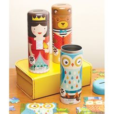We've put the FUN into function with our family of Tin Canister Puzzles, which transition - abracadabra! - from puzzle to brightly illustrated coin bank.