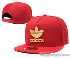 893929c43b6 Adidas Iron Standard Hip-Hop Snapback Caps Hats Hat Red