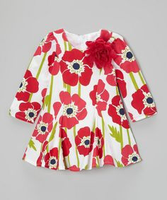Look what I found on #zulily! Pink & White Floral Tunic - Toddler #zulilyfinds