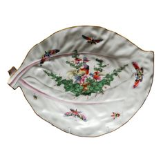 1stdibs | English Worcester 18th Century Cabbage Leaf Dish, c. 1765
