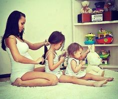 Mommy and daughters-this is so cute!