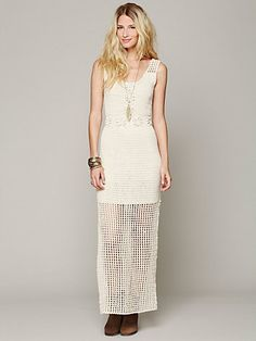 Kristal's Crochet Daisy Dress Free People $168
