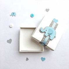 Elephant Favor Boxes Elephant Boy Baby Shower Gift Favor Boxes Blue Gray Elephant 1 st Boy Birthday Favors Candy Box Set of 12 -- Looking for Baby Shower or 1st Boy Birthday decorations?! Blue and Gray Elephant gift favor boxes make your party adorable and perfect for small gifts. Each
