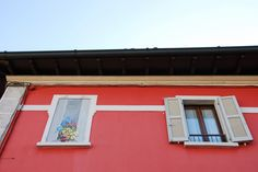 Painted Window - A real window and a painted one - Bariano, Bergamo, Italy. City Architecture, Windows, Explore, Frame, Decor, Italia, Picture Frame, Decoration, Decorating