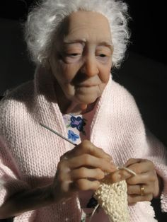 """Grandma Rose"" 2008  Polymer clay, mixed media"