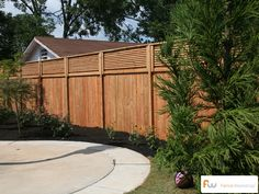 Custom wood privacy fence.