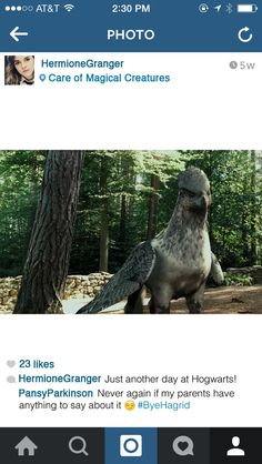 When she's in between classes:   If Hermione Granger Had Instagram