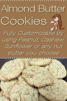 Almond Butter Cookies by Foodie Home Chef are made with organic ingredients & are totally customizable. Instead of Almond Butter you can use Peanut, Cashew, Sunflower or any nut butter you like. Your whole family will love these, so double or triple the recipe & freeze them, so you'll always have some on hand for a cookie craving! Almond Butter Cookies | Cookie Recipes | Healthy Cookies | Peanut Butter Cookies | Desserts | Snacks | #foodiehomechef @foodiehomechef Cookie Recipes, Snack Recipes, Chef Recipes, Dessert Recipes, Almond Butter Cookies, Peanut Butter, Delicious Desserts, Delicious Dishes, Vegan Desserts