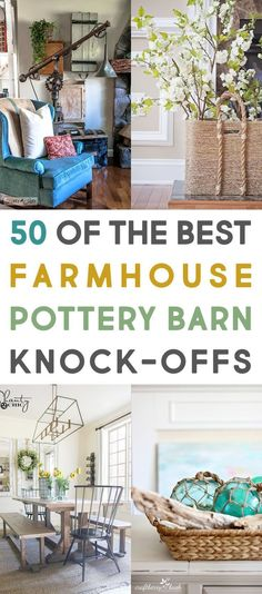50 of The Best Farmhouse Pottery Barn Knock-Offs Are you looking for that perfect Pottery Barn Farmhouse Style but not the large price tag that goes with it? Well then you will love these Budget Friendly DIY Pottery Barn Knock Offs. Pottery Barn Hacks, Pottery Barn Look, Farmhouse Pottery, Pottery Barn Inspired, Country Farmhouse Decor, Farmhouse Design, Farmhouse Style, Cottage Farmhouse, Pottery Barn Kitchen