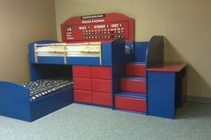 was searching for bunk beds for my girls when i came across these. liked them so much i had to share. wish my girls liked baseball!