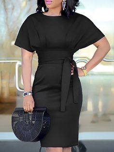 Shop Patchwork Waist Belted Mid-Calf Slip Dress right now, get great deals at Divasruby. Funeral Attire, Funeral Dress, Summer Funeral Outfit, Black Women Fashion, Womens Fashion, Discount Womens Clothing, Classy Dress, Elegant Dresses, African Fashion